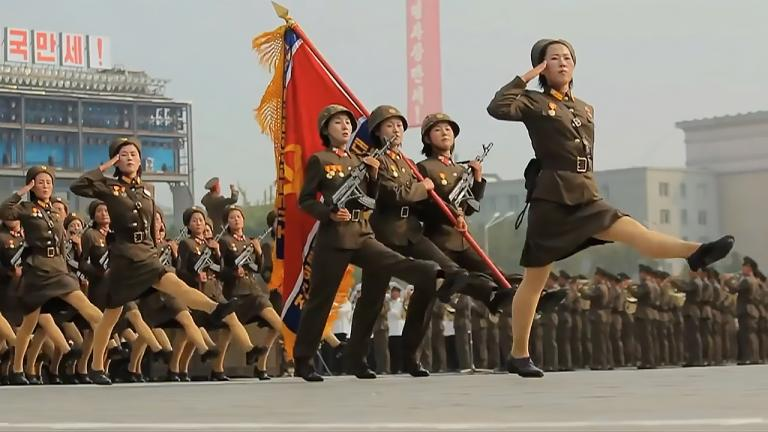 North Korean military parade.