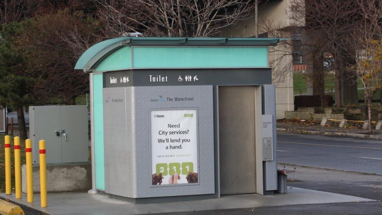 pay-per-use public toilet in Toronto