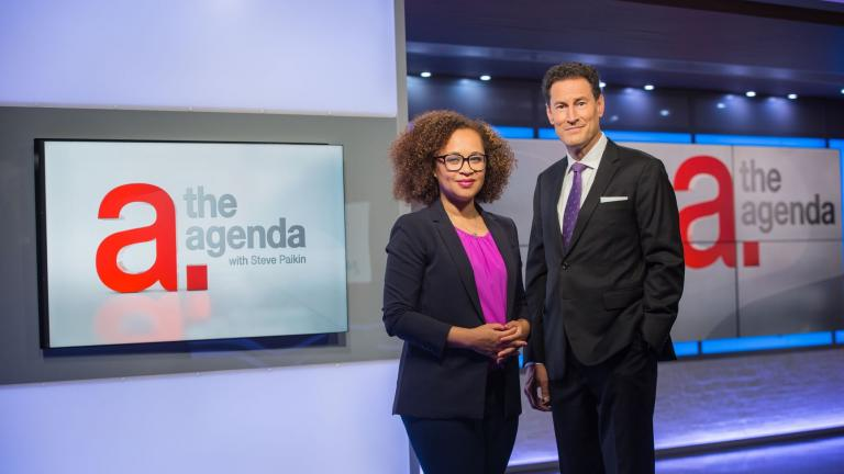 The Agenda's Steve Paikin and Nam Kiwanuka