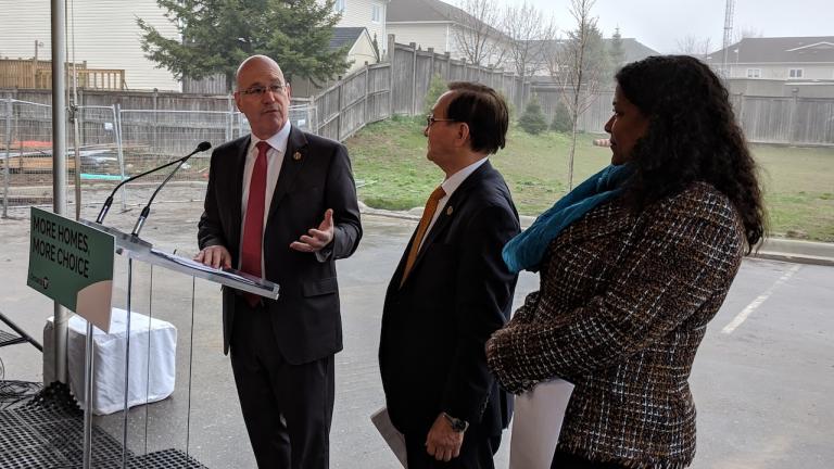 Minister of Municipal Affairs and Housing Steve Clark