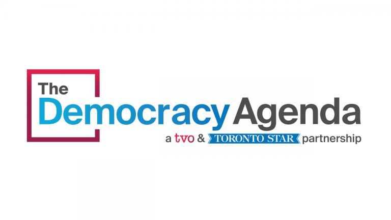 Logo: The Democracy Agenda, a TVO & Toronto Star partnership from the article TVO and the Toronto Star reveal new partnership: The Democracy Agenda