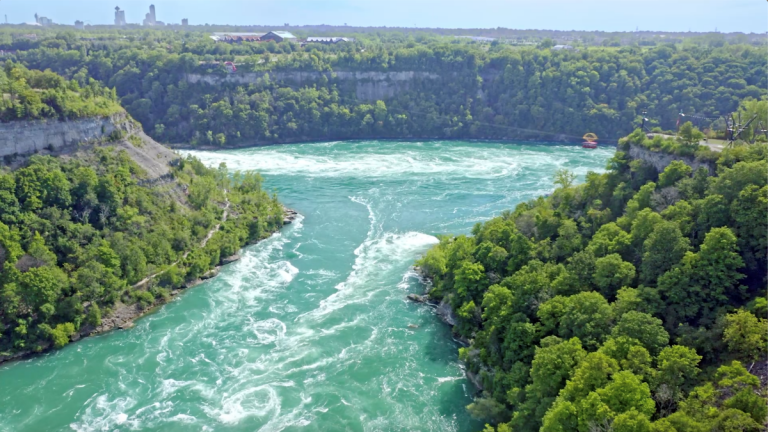 A whirlpool and gorge near Niagara Falls