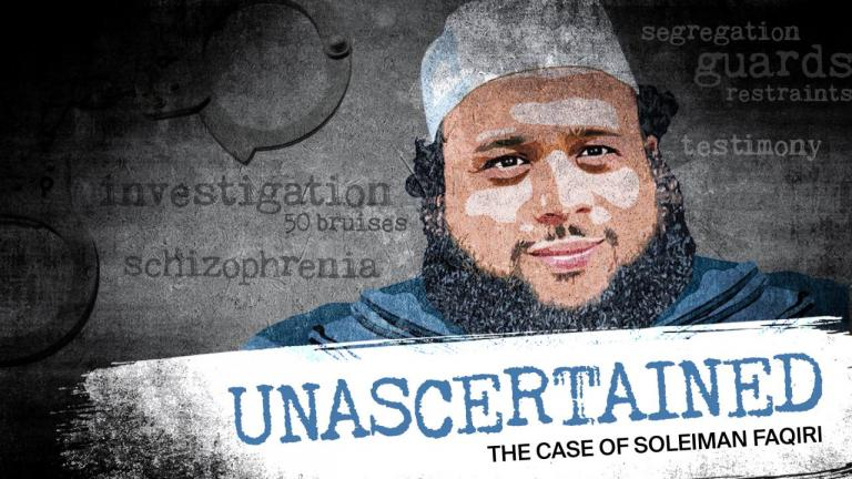 TVO podcast Unascertained investigates the death of Soleiman Faqiri from the article 'The other side of the story': Investigating the death of Soleiman Faqiri