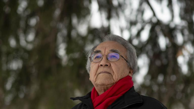Waubageshig in Ottawa in 2021 from the article Waubageshig's half-century championing Indigenous students