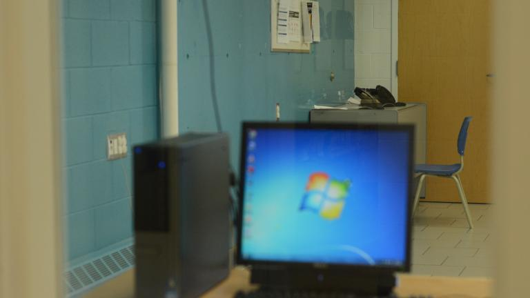 a computer at the Sudbury YMCA from the article Y-Fi: How Sudbury's YMCA is helping vulnerable people get online
