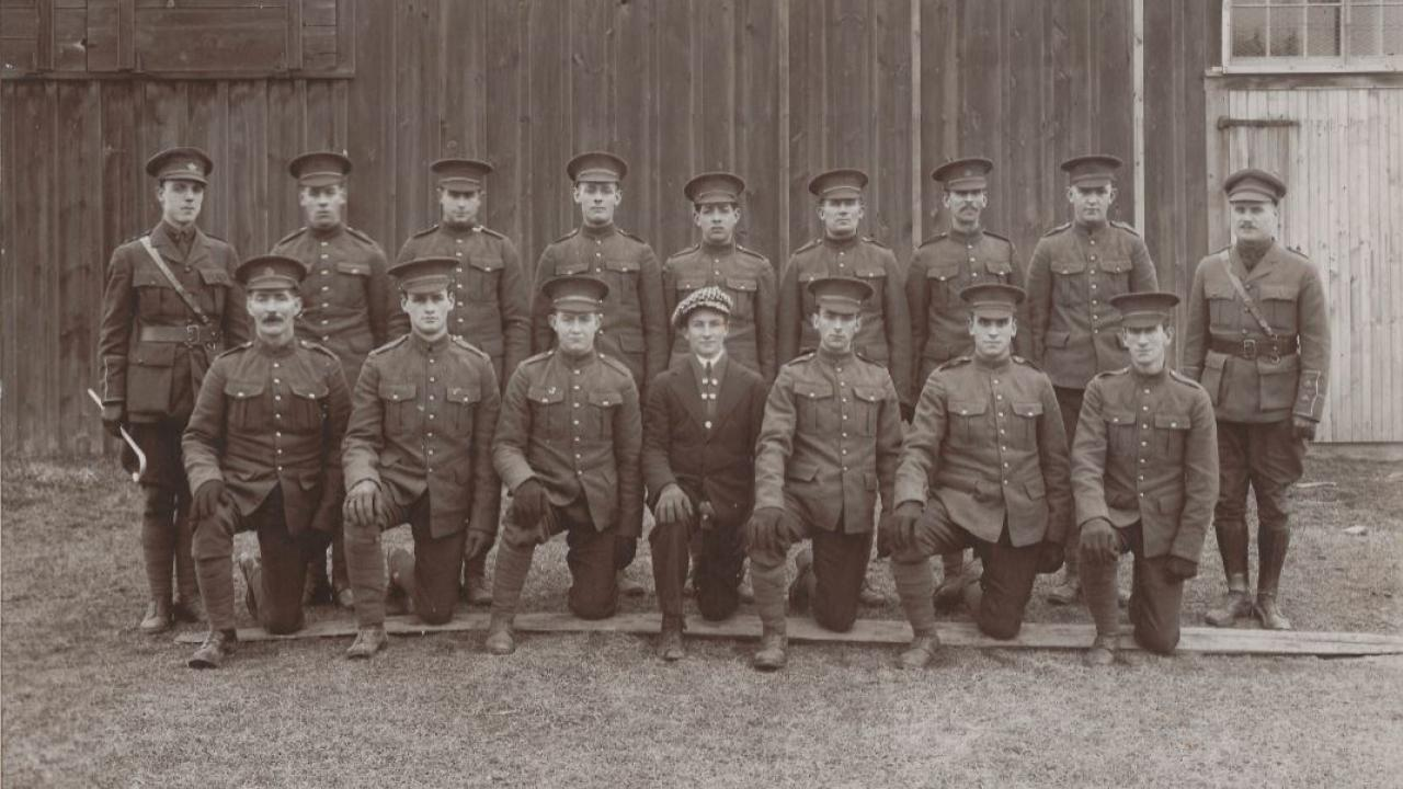 a group of soldiers posing for a photo