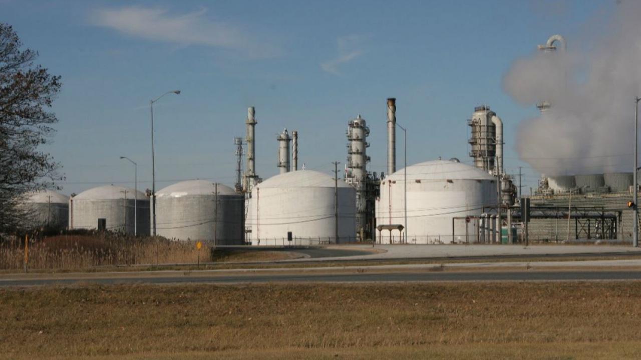 chemical plant in Sarnia