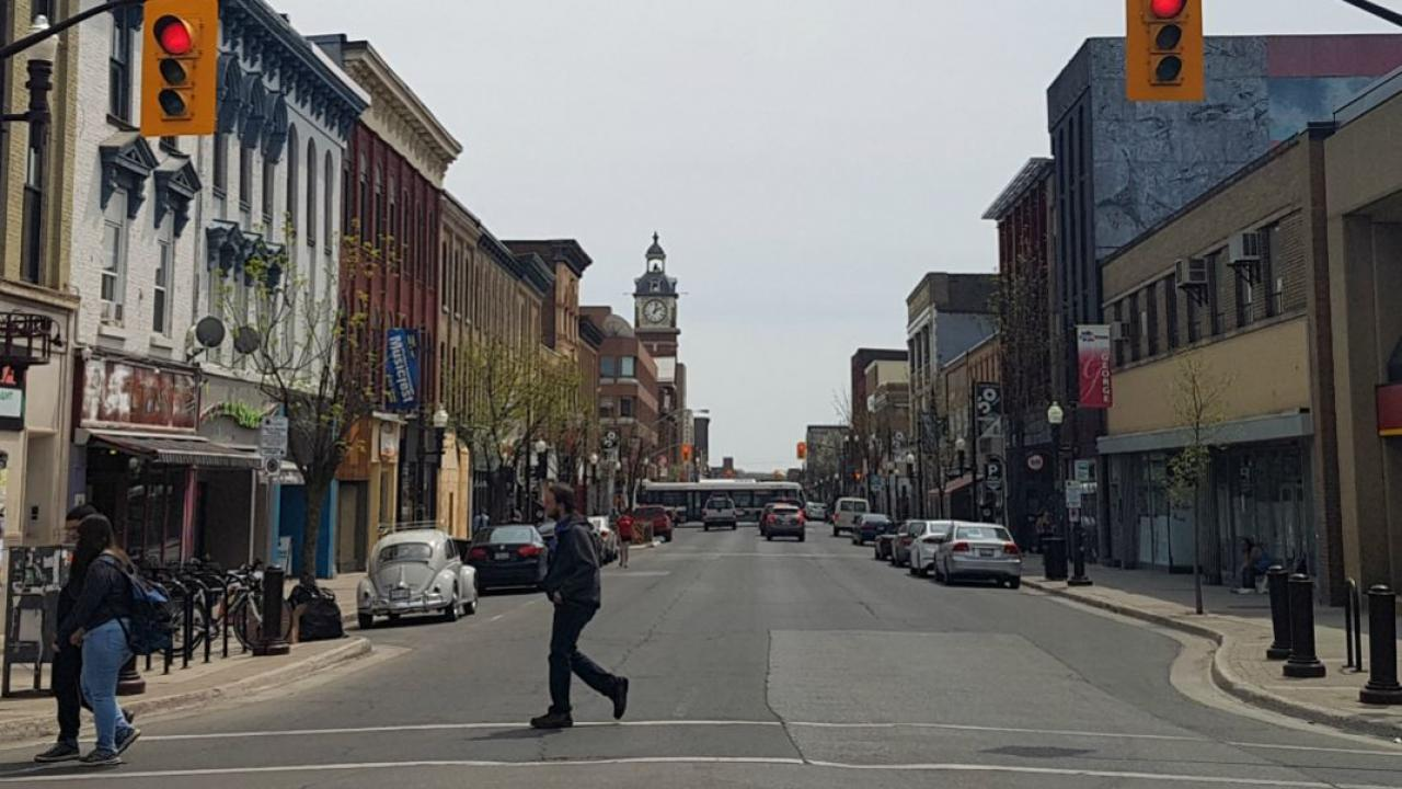 a streetscape in Peterborough