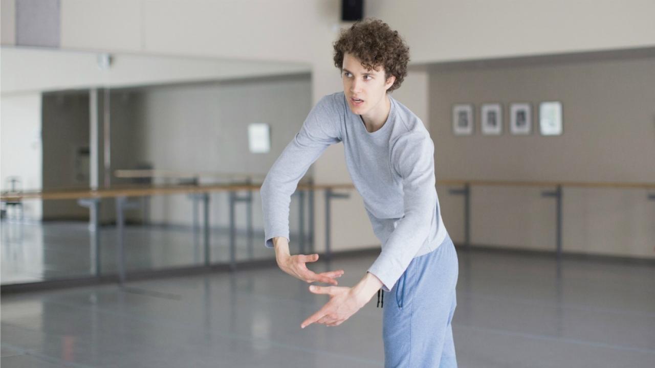 ballet dancer in studio