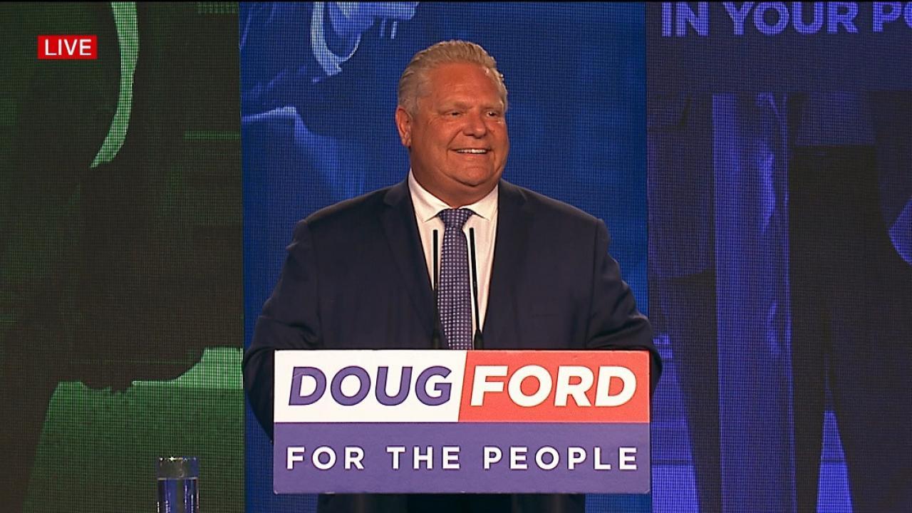 Doug Ford at podium