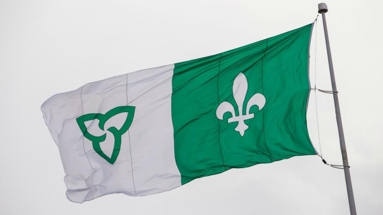 Official Franco-Ontarian flag
