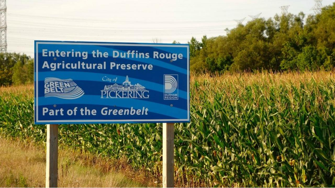 Sign for Duffins Rouge Agricultural Preserve