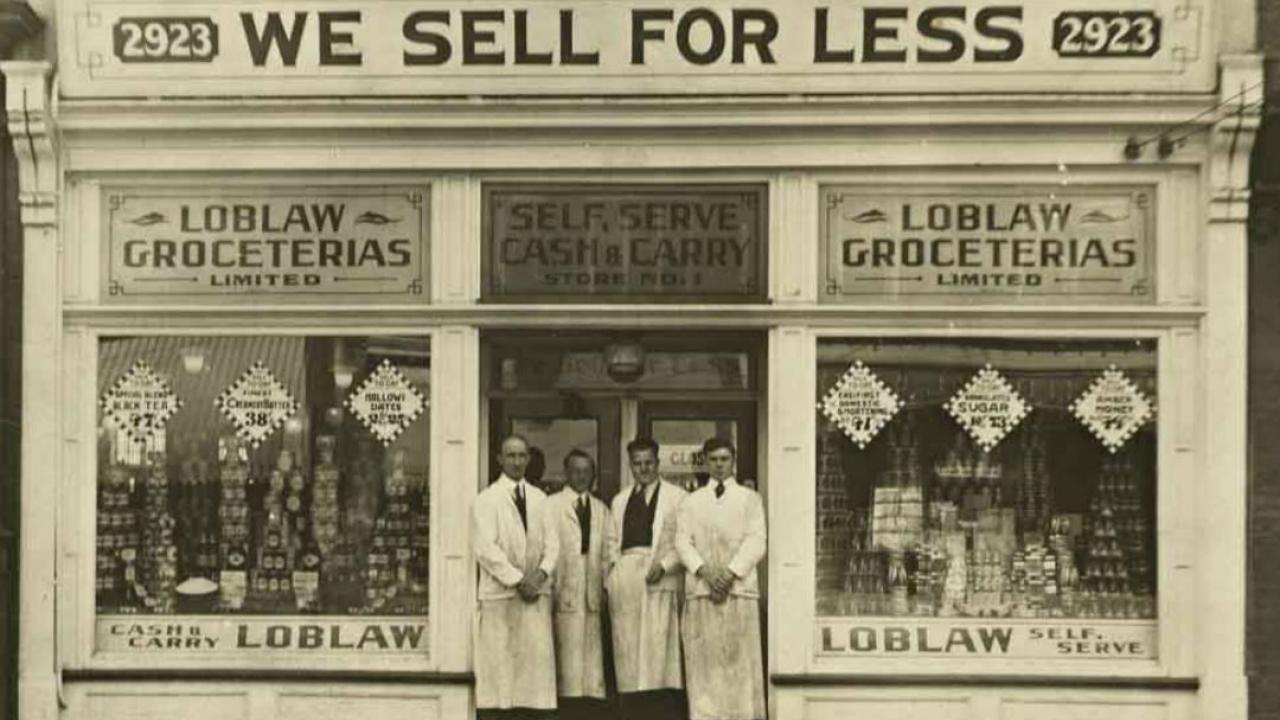 an archival photo of Loblaws grocers