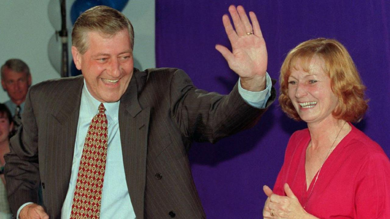 former Ontario premier Mike Harris with his then-wife Janet