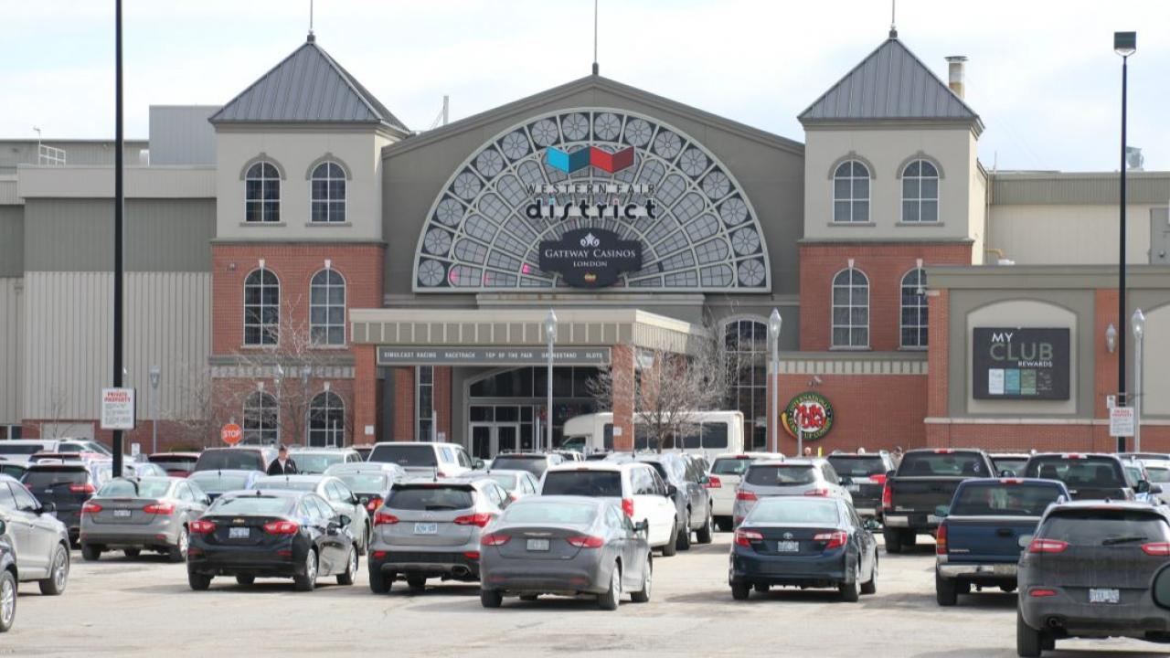an exterior view of a casino in London Ontario