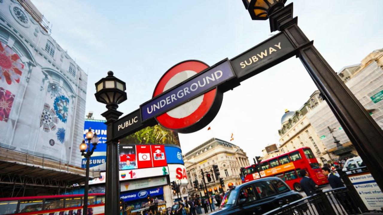 entrance to London's Underground subway
