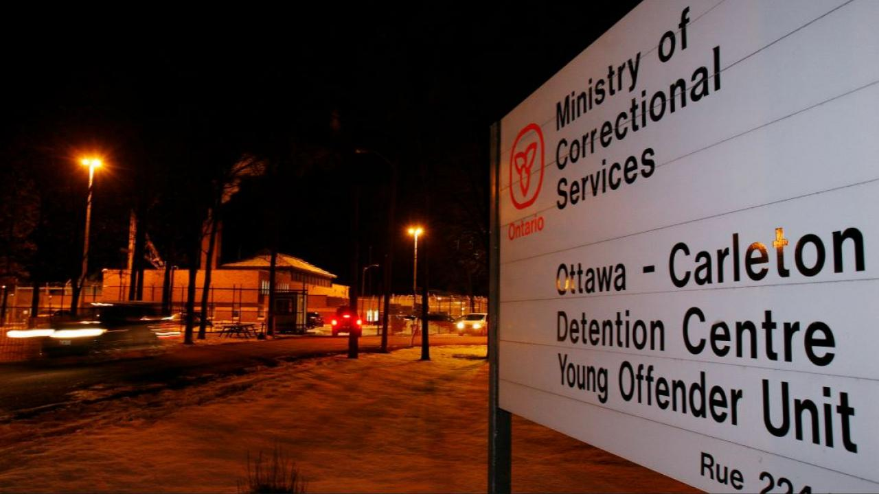 "a sign saying ""Ottawa-Carleton Detention Centre"