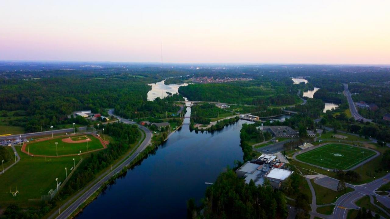 aerial view of Peterborough, Ontario