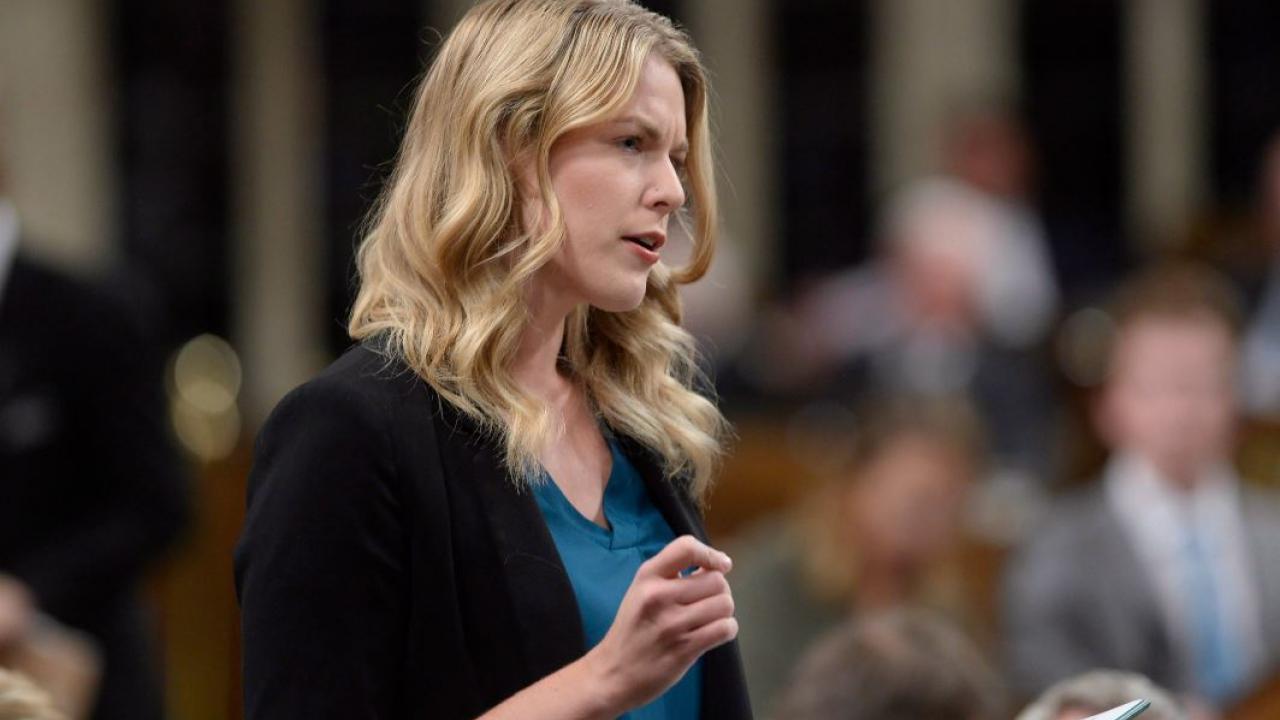 MP Rachel Harder in Parliament