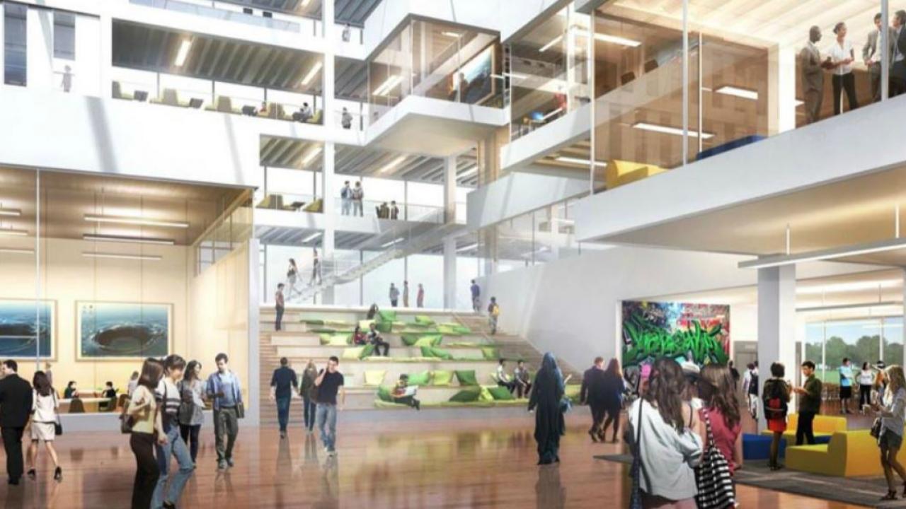 An artist's rendering of the new Brampton campus of Ryerson University