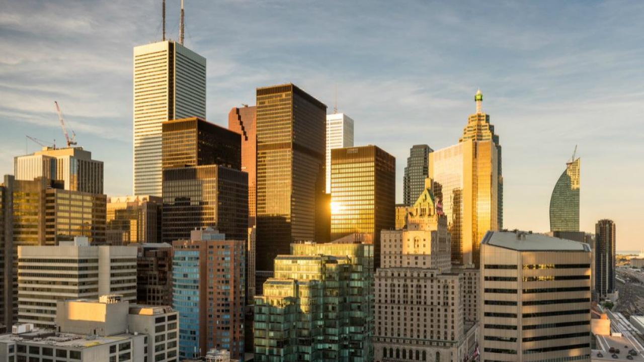 Toronto's financial district skyline