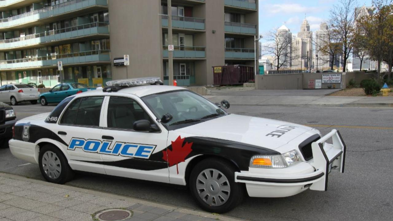 police car parked in Windsor, Ontario