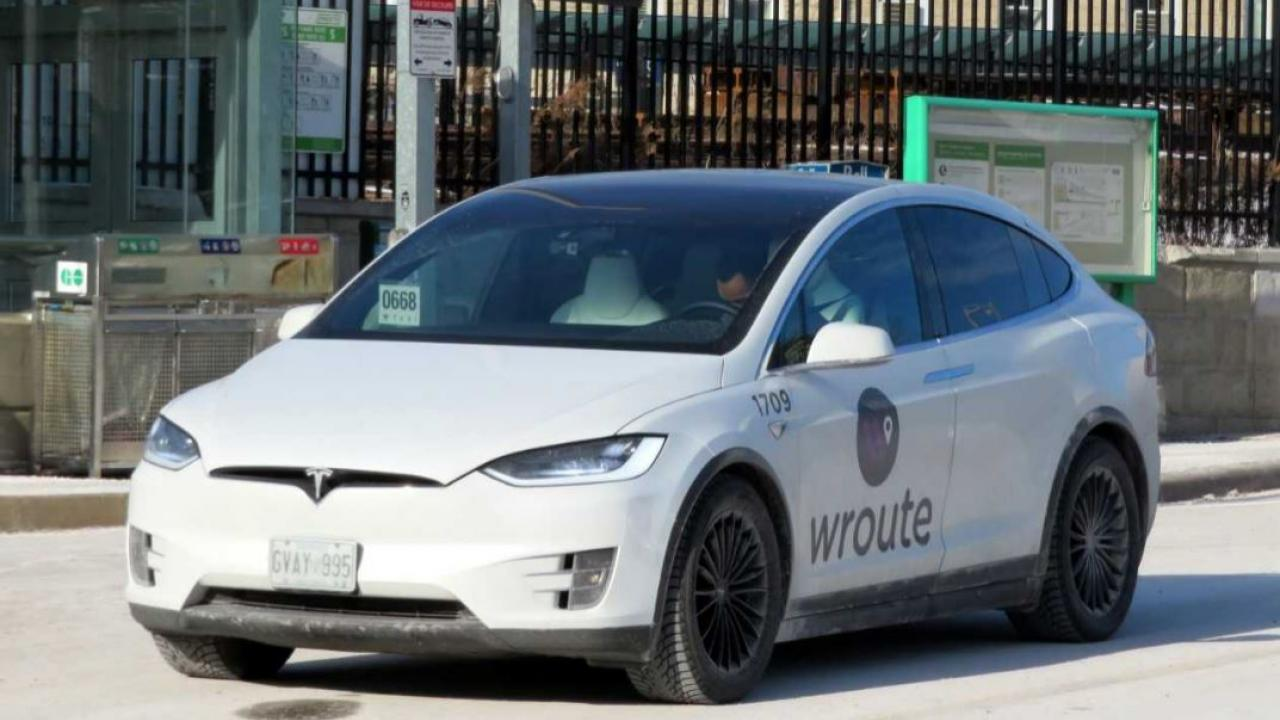 a Wroute app vehicle