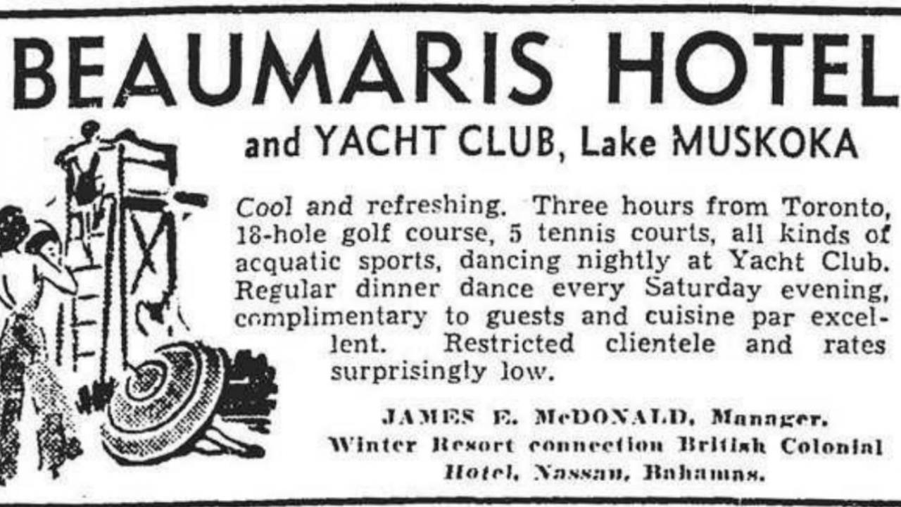 an archival newspaper ad