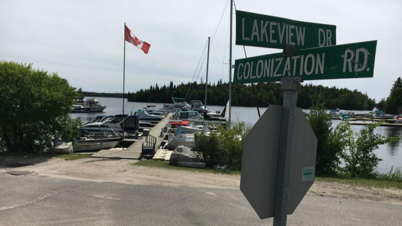 street signs in northern Ontario