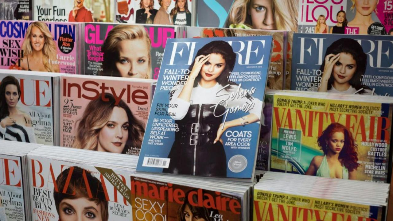 a magazine stand
