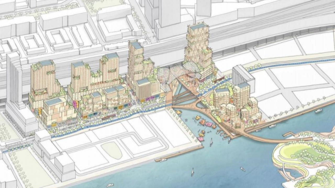artists rendering of Quayside waterfront development project in Toronto