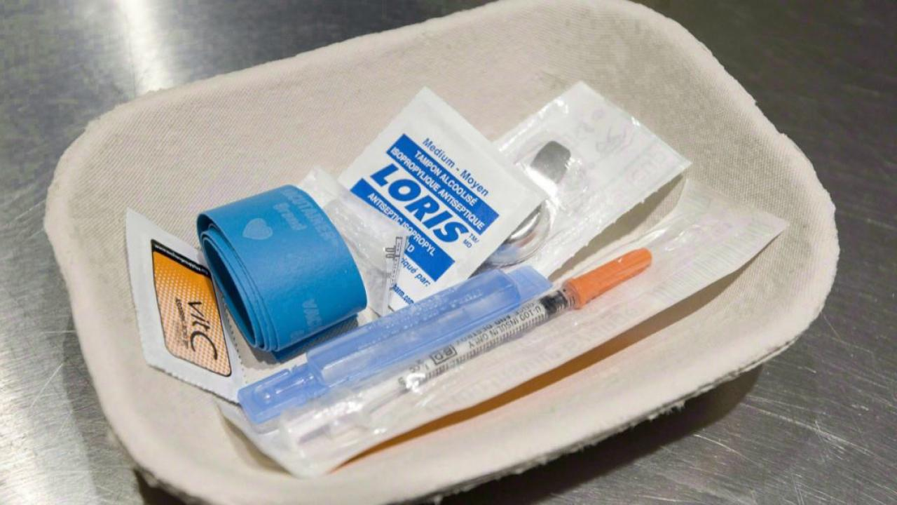 a tray of drugs