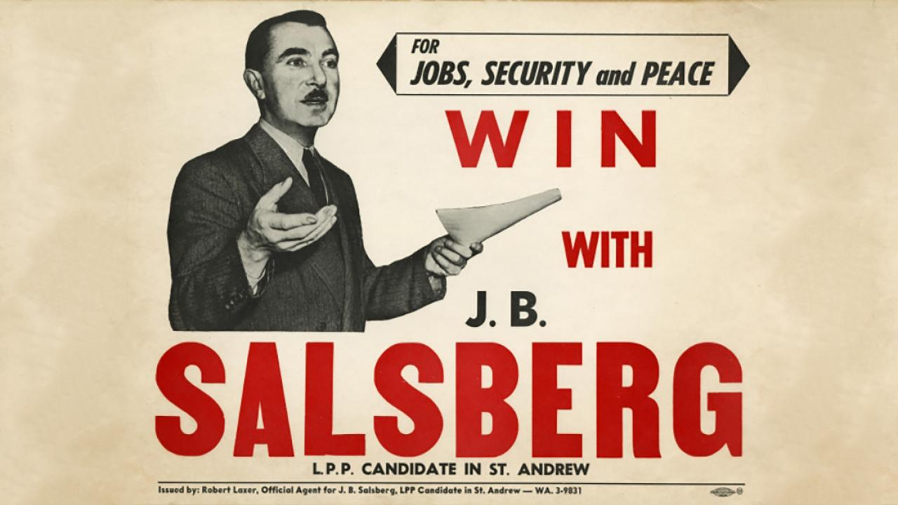 an archival election ad featuring a male candidate