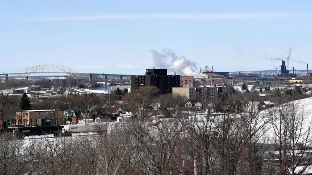 a wide view of Sault Ste. Marie