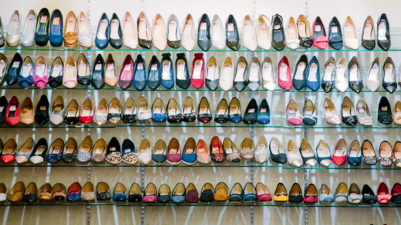 a shoe display