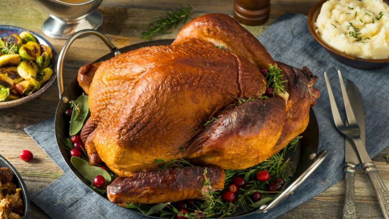 a turkey on a platter