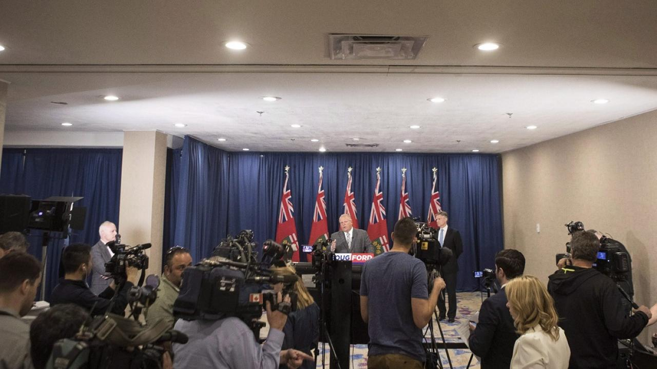 A Doug Ford press conference