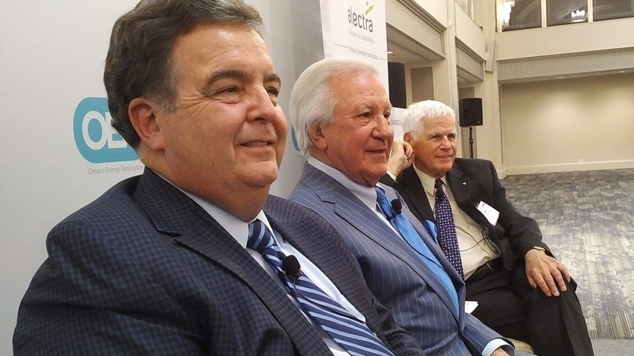 Former Ontario finance ministers Dwight Duncan, Ernie Eves, and Floyd Laughren