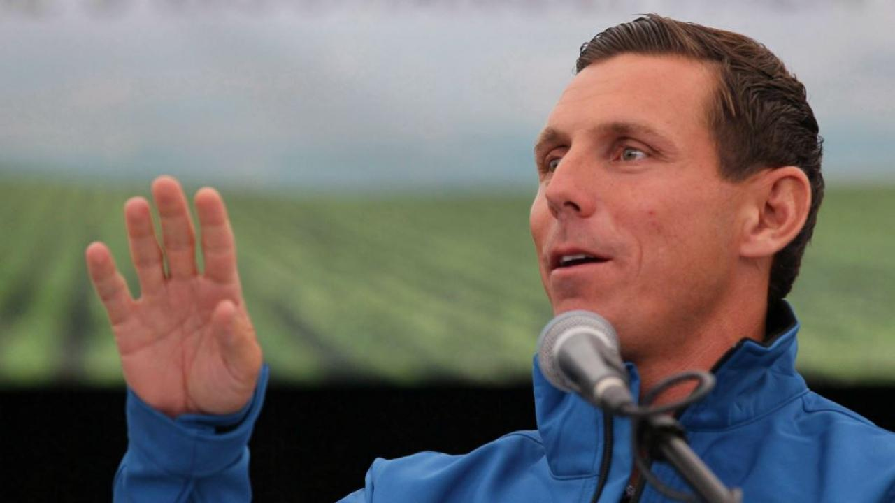 PC leader Patrick Brown outdoors