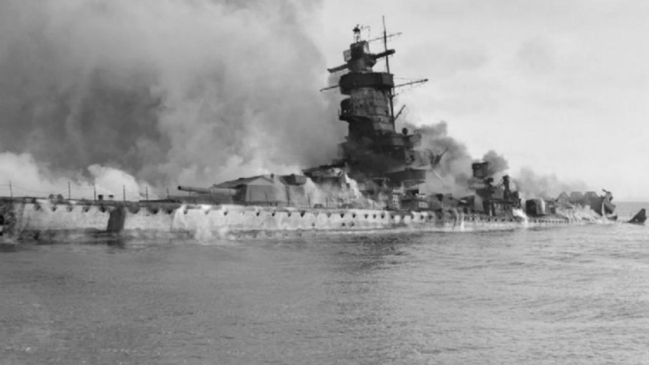 Second World War battle ship