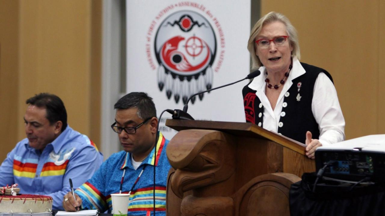 Indigenous Affairs Minister Carolyn Bennett at the Assembly of First Nations in B.C.