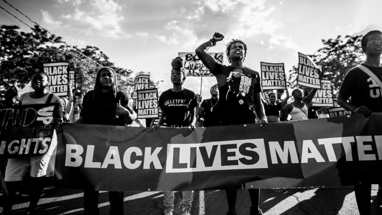a Black Lives Matter protest in Toronto