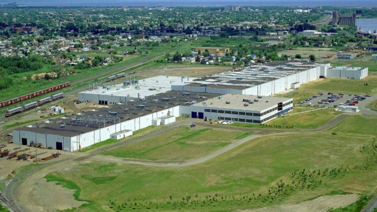 Bombardier manufacturing plant in Thunder Bay, Ont.