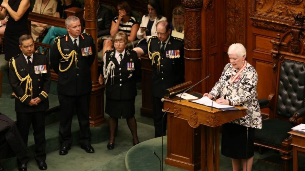 Lieutenant Governor Elizabeth Dowdeswell in Ontario legislature.