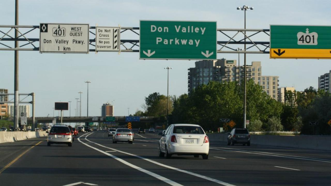 Don Valley Parkway in Toronto