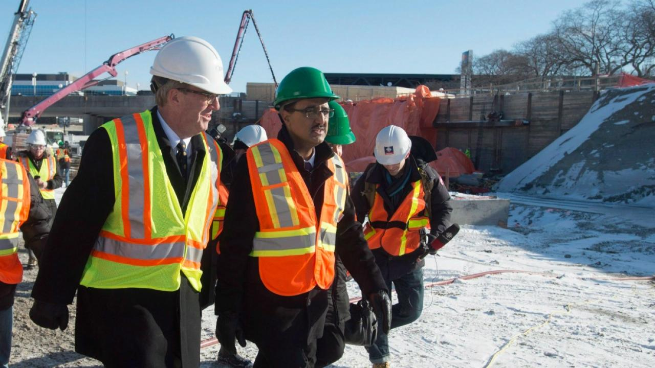 men on a construction site