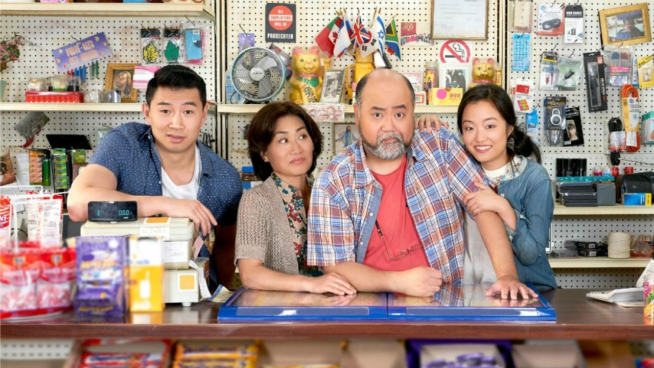 four actors from the tv show Kim's Convenience