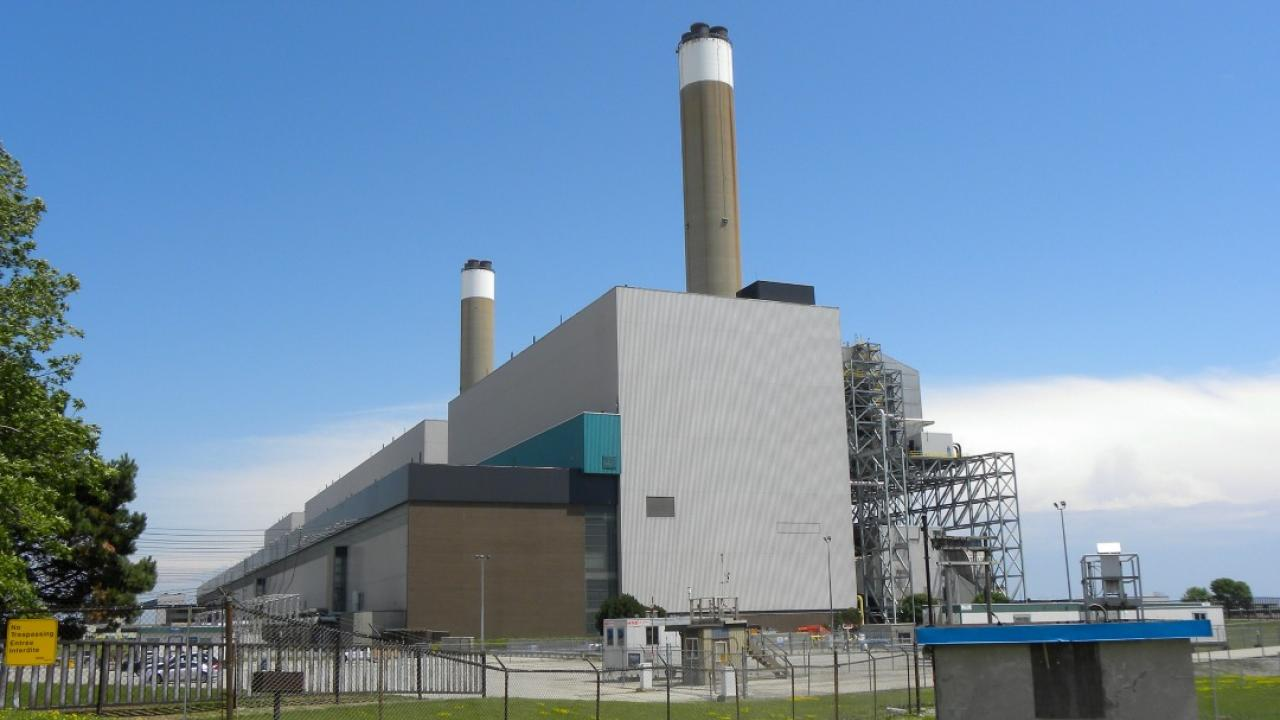 Coal-fired generating station.