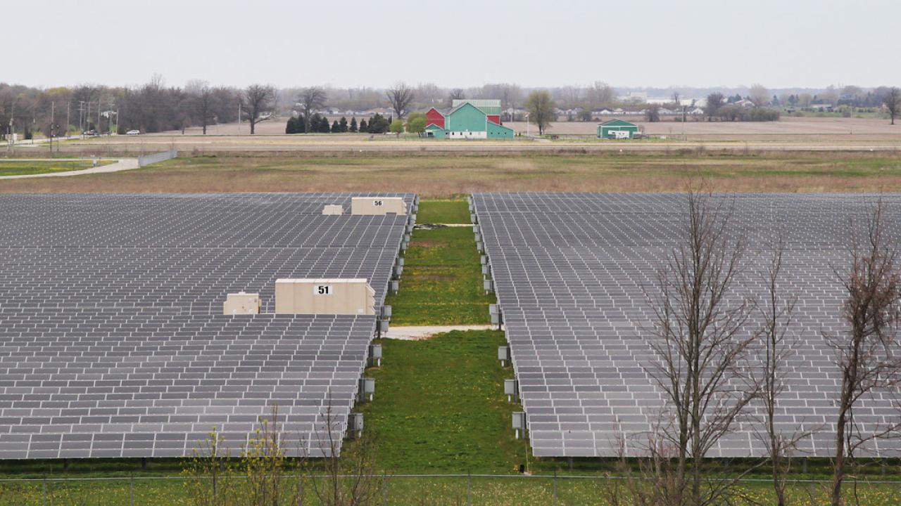 a solar farm in Sarnia, Ontario