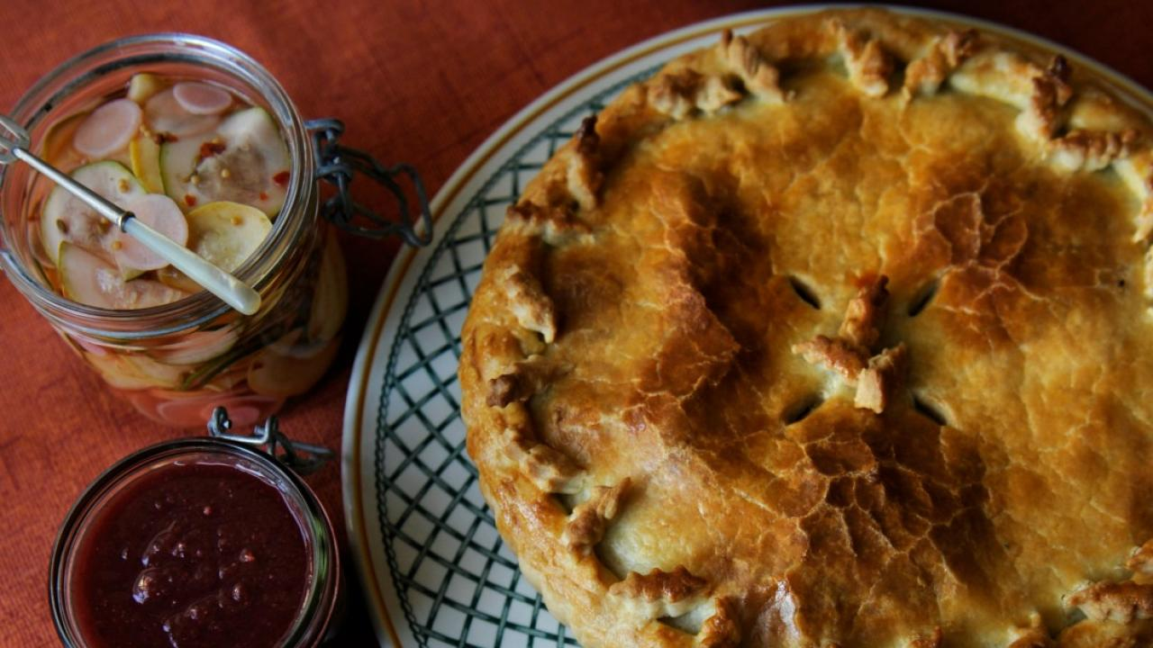 Tourtiere (meat pie).
